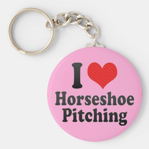 J'aime le tangage en fer à cheval porte-clés