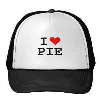 J'aime le tarte (le lettrage noir) casquette