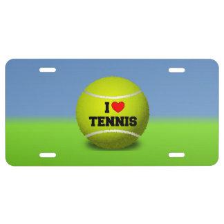J'aime le tennis - balle de tennis - herbe