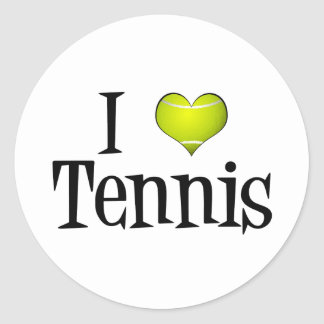 J'aime le tennis sticker rond