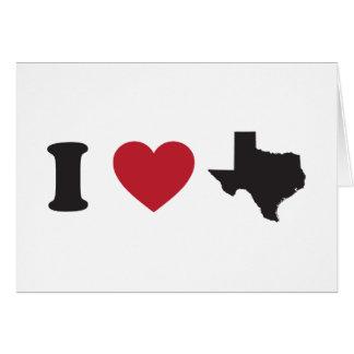 J'aime le Texas Carte De Vœux