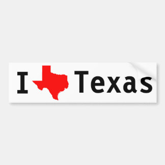 J'aime (le Texas) le Texas Autocollant De Voiture