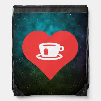 J'aime le thé chaud sacs à dos