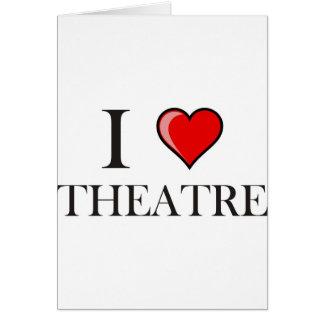 J'aime le théâtre carte de vœux