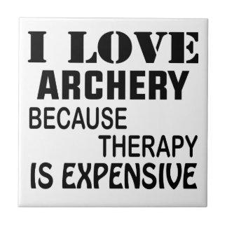 J'aime le tir à l'arc puisque la thérapie est carreau