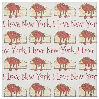 J'aime le tissu du gâteau au fromage NYC de cerise