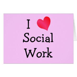 J'aime le travail social cartes
