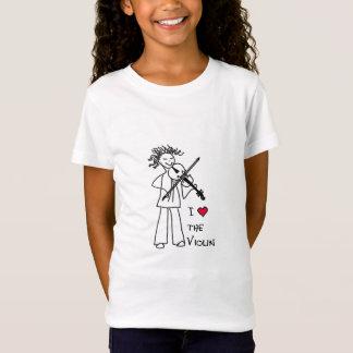 """""""J'aime le violon"""" pour le magasin de site de T-Shirt"""