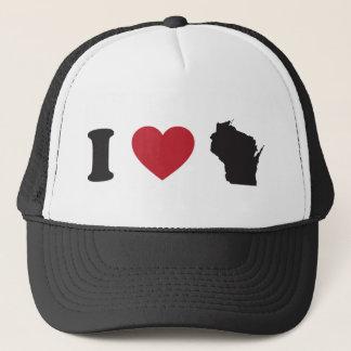 J'aime le Wisconsin Casquette