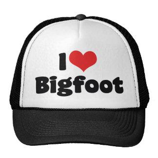 J'aime le yeti de Bigfoot Sasquatch de coeur Casquettes