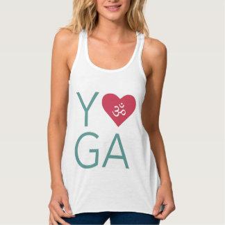 J'aime le yoga (de coeur) avec le symbole de l'OM Débardeur