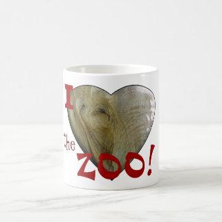 J'aime le zoo : Coeur d'éléphant Mug Magique