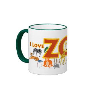 J'aime le zoo mug ringer