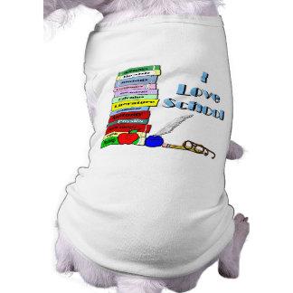 J'aime l'école t-shirt pour chien