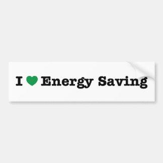 j'aime l'économie d'énergie autocollant pour voiture