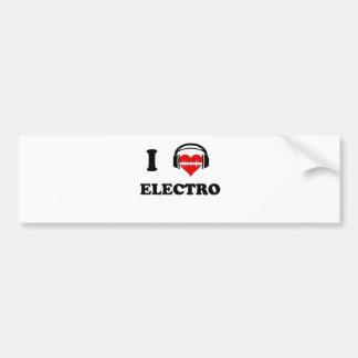 J'aime l'électro autocollant de voiture