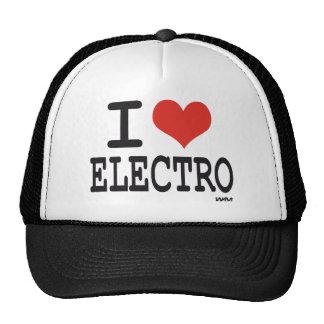 J'aime l'électro casquettes de camionneur
