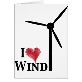 j'aime l'énergie éolienne carte de vœux