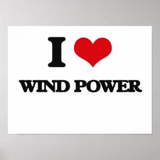J'aime l'énergie éolienne poster