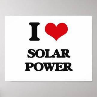 J'aime l'énergie solaire poster