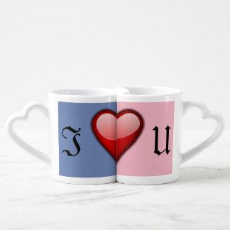 J'aime l'ensemble de tasse de café d'U