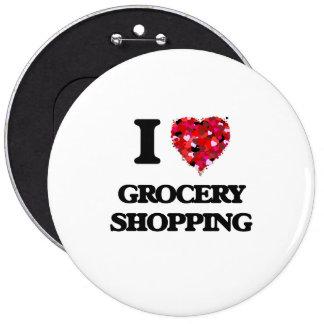 J'aime l'épicerie badge rond 15,2 cm
