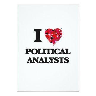 J'aime les analystes politiques carton d'invitation  12,7 cm x 17,78 cm