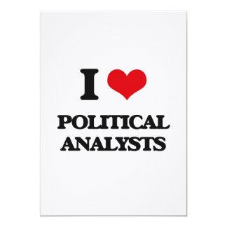 J'aime les analystes politiques invitations