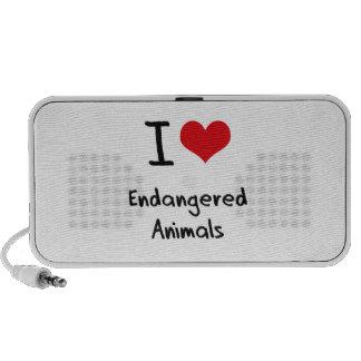 J'aime les animaux mis en danger haut-parleur ordinateur portable