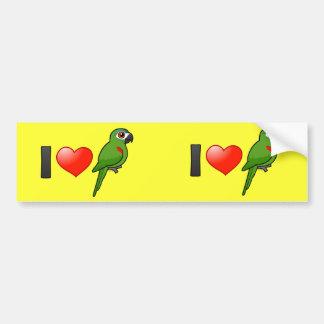 J'aime les aras Rouge-épaulés Autocollant De Voiture