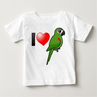 J'aime les aras Rouge-épaulés T-shirt Pour Bébé