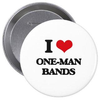 J'aime les bandes individuelles badge rond 10 cm