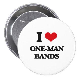 J'aime les bandes individuelles badge rond 7,6 cm
