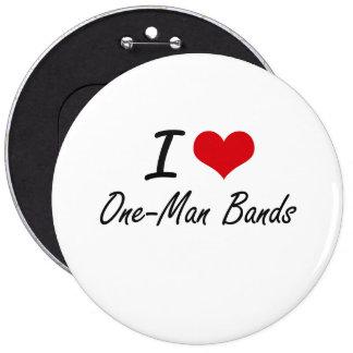 J'aime les bandes individuelles badge rond 15,2 cm
