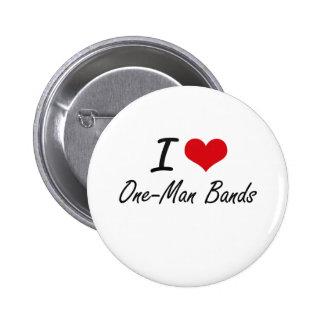 J'aime les bandes individuelles badge rond 5 cm