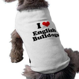 J'aime les bouledogues anglais manteaux pour animaux domestiques