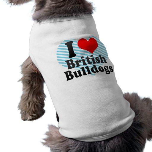 J'aime les bouledogues britanniques manteaux pour animaux domestiques