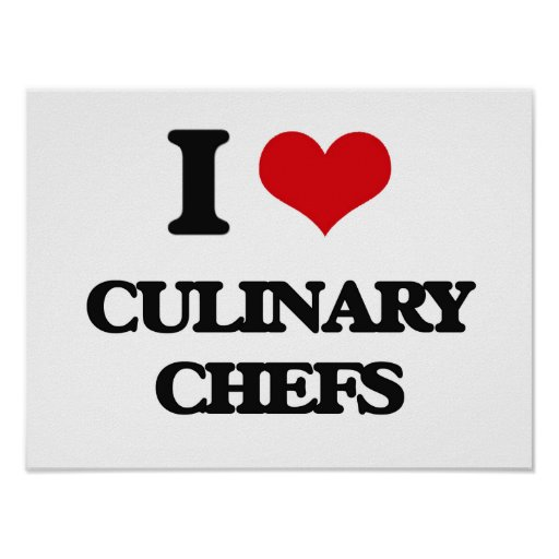 J'aime les chefs culinaires posters