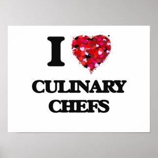 J'aime les chefs culinaires poster