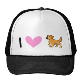 J'aime les chiens d'arrêt d'or casquettes de camionneur