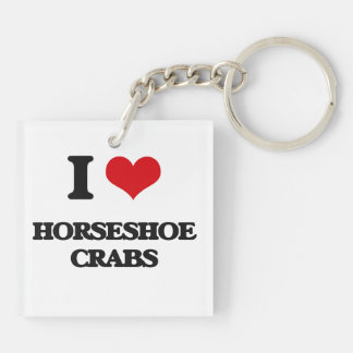 J'aime les crabes en fer à cheval porteclés