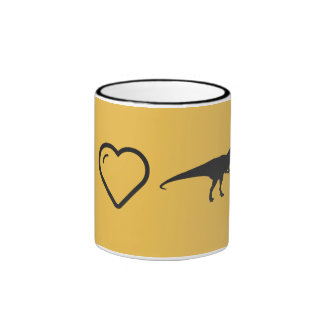 J'aime les dinosaures agressifs mug ringer