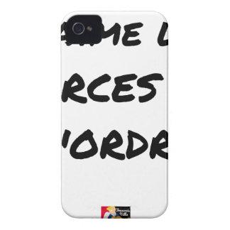 J'aime les FARCES de l'ordre - Jeux de Mots Coque iPhone 4 Case-Mate
