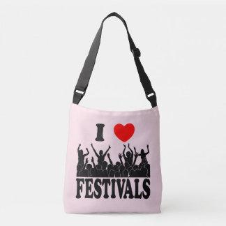 J'aime les festivals (le noir) sac ajustable