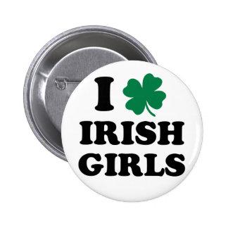 J'aime les filles irlandaises badges