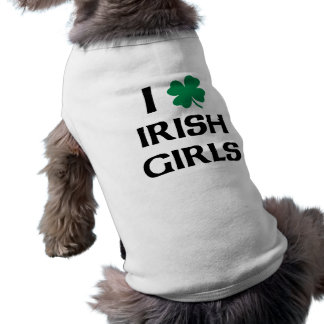 J'aime les filles irlandaises t-shirt pour chien