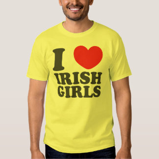 J'aime les filles irlandaises t-shirts