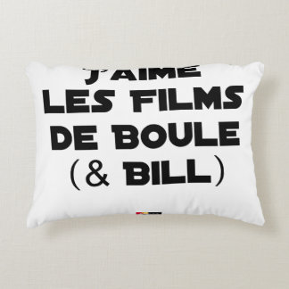 J'aime les Films de Boule (& Bill) - Jeux de Mots Coussins Décoratifs