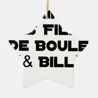 J'aime les Films de Boule (& Bill) - Jeux de Mots Ornement Étoile En Céramique