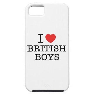 J'aime les garçons britanniques étui iPhone 5
